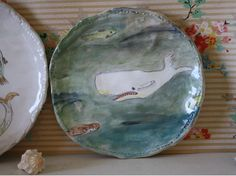https://flic.kr/p/iPogu9 | white whale below the surface | my first pinched plate