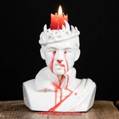 While it is hard to top that Raiders of the Lost Ark Melting Face Candle, this Game of Thrones Bleeding Joffrey Candle just might do it for diehard GoT fans Game Of Thrones Facts, Game Of Thrones Quotes, Game Of Thrones Funny, Game Of Thrones Cosplay, King Joffrey, Unique Candles, Red Candles, Candels, Scented Candles