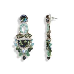 Boho Chandelier Earrings Mediterranean Ocean - Anthos Crafts - 1