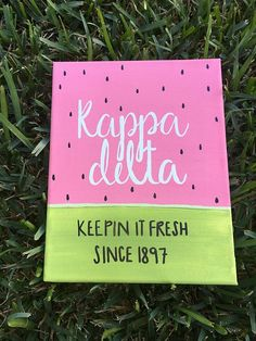 Watermelon Keepin it Fresh Canvas // Kappa Delta // Customizable // Sorority // Pink // Tropical // Summer // Gifts for Little // Kappa Alpha Theta, Alpha Chi Omega, Kappa Delta Canvas, Kappa Delta Crafts, Delta Phi Epsilon, Sorority Canvas, Sorority Paddles, Sorority Crafts, Sorority Recruitment