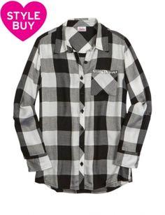 Buffalo Check Plaid Button Up Shirt