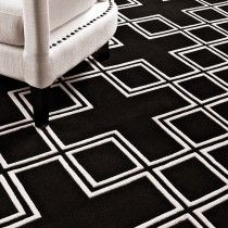 Eichholtz Carpet Caton (black) - This gorgeous rug with its geometric pattern would add style and sophistication to whichever room you choose to place it. Made from New Zealand wool pile this rug was made with love and built to last! Carpet Decor, Wall Carpet, Rugs On Carpet, Hallway Carpet Runners, Cheap Carpet Runners, Stair Runners, White Carpet, Patterned Carpet, Deep Carpet Cleaning