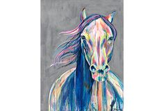One Kings Lane - Emerging Artists - Jennifer Moreman, JR Ewing Decoration, Art Decor, Decor Ideas, Icona Pop, Horse Portrait, Home Living, Living Room, Horse Art, Gray Background