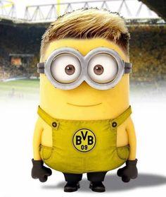 aaaaand also Marco Reus in minion form awwwwwww Clash Of Clan, Bvb Fan, Cute Minions, Minions Minions, Minions Quotes, Funny Minion, Minion Pictures, Robert Lewandowski, Yellow Fever