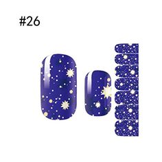 1 Sheet Cool Nail Art Stickers Full Fashion 3D Colorful Polish Tips Color Style Code26 ** Continue to the product at the image link.