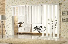 A vision fabric curtain allows you to have full control over the filtering of light in the room, while the vision is supported from outside the box.