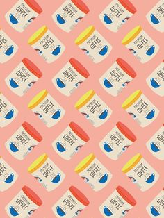 Coffee Tin Pattern! – The Supermarket Series card by Pattern Paper Co.