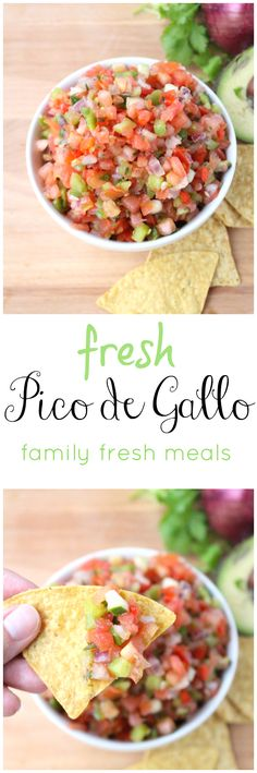 Fresh Pico de Gallo Salsa Recipe. This fresh salsa taste amazing with chips, chicken, steak, fish and eggs!