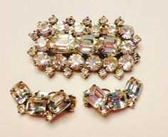 on sale Unsigned Eisenberg style rhinestone pin and by betsstuff, $50.00