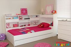 Beds 4 Kids - King Single Ballina Girls Trundle Bed White