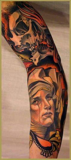 """Tattoo by Lars """"Lu's Lips"""" Uwe"""