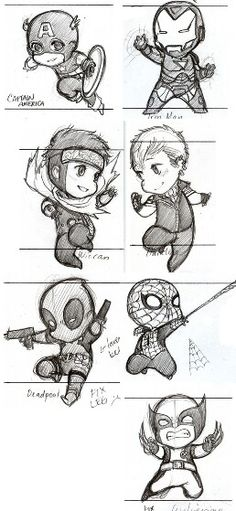 Marvel // YAY-UH. *fist pumps these cuties