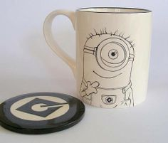 despicable me Minion breakfast set - POTTERY, CERAMICS, POLYMER CLAY