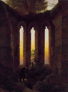 gaspar friedrich | Tumba de Hutten, Gaspar Friedrich, hacia 1823/24.