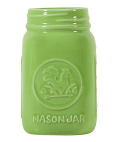 LIme Rooster Mason Jar