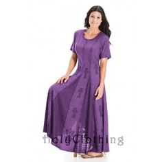 Blue Divine Catriona Empire Flare Boho Godet Gypsy Peasant Long Dress Gown - Blue - Shop by Color - Dresses Kinds Of Clothes, Modest Outfits, Modest Clothing, Clothing Styles, Nice Dresses, Special Dresses, Prom Dresses, Cold Shoulder Dress, Short Sleeve Dresses