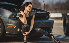 brunettes models women women models Ford Mustang brunettes Wallpaper #37342 - wallhaven.cc