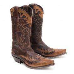 #Sendra Boots Stiefel 9669 Flotan Tan. Westernstiefel Vintage.