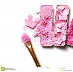 Crushed Makeup Colorful eyeshadow stock photo - image: 11416650