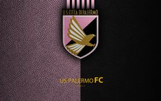 Download wallpapers Palermo FC, 4K, Italian football club, logo, Palermo, Italy, Serie B, leather texture, football, Italian Football Championships