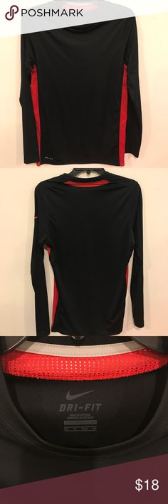 Nike dri-fit long sleeve Really nice, never been worn, Nike dri-fit long sleeve shirt! It's an xs, meant to be tight and could be worn under another shirt! Nike Tops