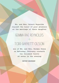 invitation design.