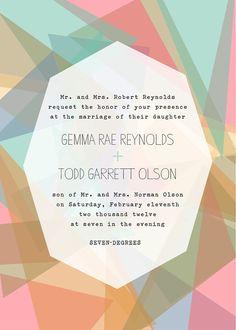 invitation design - modern