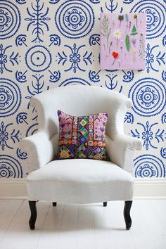 Anna Spiro for Porter's Paints (Sydney Harbour Paints) :: Round and Round the Garden' in Ginger Jar Blue