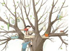 'A Secret Place For Me'   -- Anna Walker (illustration, art, treehouse, children)