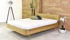Luxusní zaoblená manželská postel dubová Stockholm