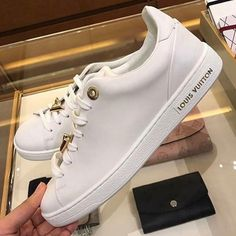 Louis Vuitton Shoe in White For Women and Men. Louis Vuitton keeps on inventing itself and is. Best Sneakers, White Sneakers, Sneakers Fashion, Fashion Shoes, Lv Sneakers, Men's Fashion, Chanel Sneakers, Gucci Shoes, Trendy Shoes