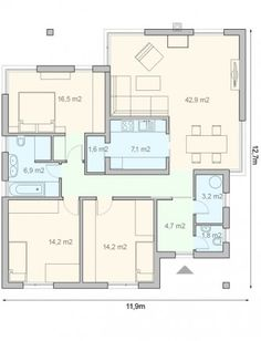 projekt domu Melody Modern House Design, Home Projects, Home Furniture, House Plans, Floor Plans, Flooring, How To Plan, Architecture, Building