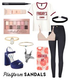 """Variation on a First Day"" by maggiethequeen on Polyvore featuring Bodas, Prada, Kate Spade, NARS Cosmetics, Maybelline, Jennifer Meyer Jewelry, House of Harlow 1960 and Miss Selfridge"