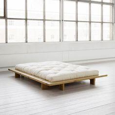 Bedroom: Simple And Modern Minimalist Bed Frame Design In Wood Material Platform…