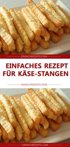 Easy recipe for cheese sticks - Party Rezepte - Fingerfood & Snacks - Healthy recipes Healthy Sauces, Easy Healthy Recipes, Easy Meals, Breakfast Recipes, Snack Recipes, Dessert Recipes, Cheese Sticks Recipe, Oven Vegetables, Biscuits