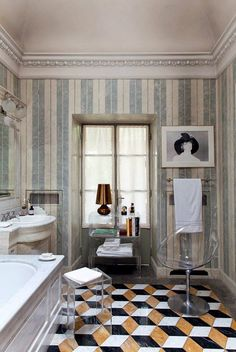 9 Ideas to Glam up Your Bathroom on the Interior Collective 1 love this trim for the bathroom