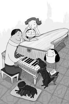 Piano Illustrations Posters, Piano, Anime, Fictional Characters, Art, Art Background, Kunst, Illustrations_posters, Pianos