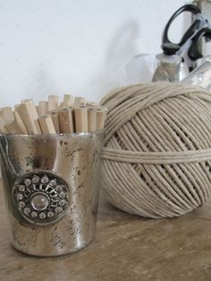 twine and pegs