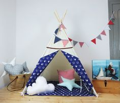 Teepee, playtent, wigwam, MINU Kids by Minukids on Etsy