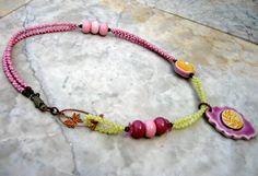 a tisket a tasket necklace     by marthasrubyacorn on Etsy, $76.00