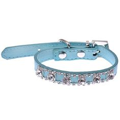 Sparkly Crystal Diamantes Cat Collar Sky Blue Safety... * See this great product.(It is Amazon affiliate link) #35likes