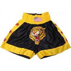 Boxing Wear:   Embroidered Tiger Short     www.BeBodySmart.com
