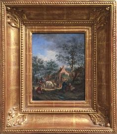 Exceptional Framed 17/18th Century Dutch Genre Painting in the Manner of Ostade