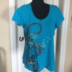 Ladies Cotton tee-Size L 100% cotton embellished tee. Large Tops Tees - Short Sleeve