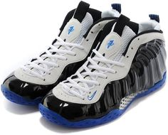 cfb5c967abd Nike Air Foamposite One Shooting Stars Black White Blue