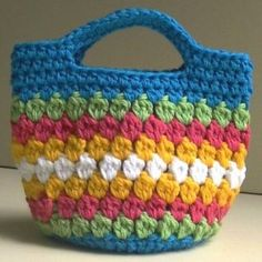 Cluster Stitch Crochet Bag - Free Pattern And Video Tutorial