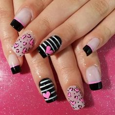 Love Nails, Pink Nails, Pretty Nails, Creative Nail Designs, Nail Art Designs, Deluxe Nails, Nail Art Printer, Dry Nails, Girls Nails