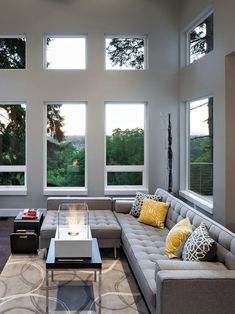 Modern Spaces Design, Pictures, Remodel, Decor and Ideas - page house design room design decorating home design Living Room Grey, Home Living Room, Interior Design Living Room, Living Room Designs, Living Area, Cottage Living, Living Spaces, Modern Family Rooms, Modern Spaces