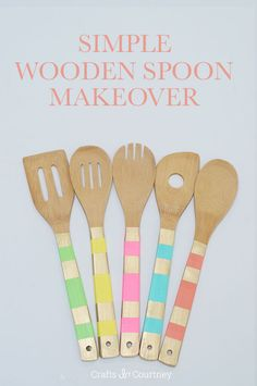 Easy wooden spoon makeover: paint + Mod Podge = gorgeous