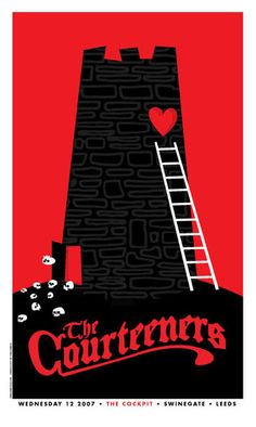 Original silkscreen concert poster for Courteeners at The Cockpit, Leeds, UK 17 x 26 inches on card stock paper. Limited edition of only 150 signed and numbered by artist Dan Stiles. The Courteeners, Concert Posters, Music Posters, Gig Poster, The Mars Volta, Art Of Dan, Music Artwork, Music Images, Music